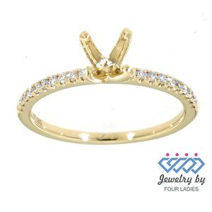 Real Diamond Promise Engagement Ring Yellow Gold